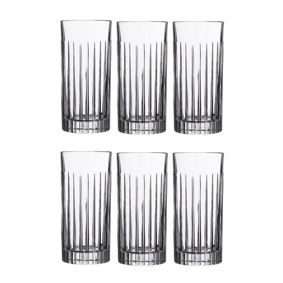 RCR Crystal Timeless High Ball 44 cl Glasses - Set Of 6
