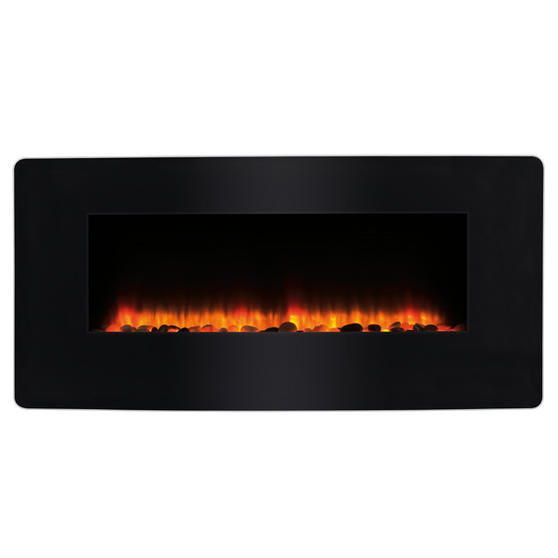Beldray Porto LED Electric Colour Changing Wall Fire with Floor Stand, 1500 W, Black