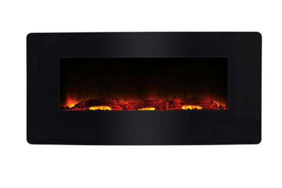 Beldray Porto LED Electric Colour Changing Wall Fire with Floor Stand, 1500 W, Black Thumbnail 2