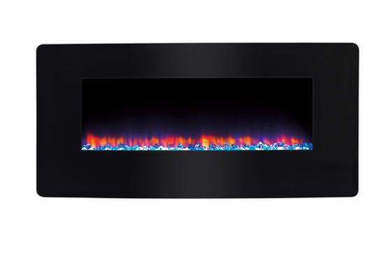 Beldray Porto LED Electric Colour Changing Wall Fire with Floor Stand, 1500 W, Black Thumbnail 3
