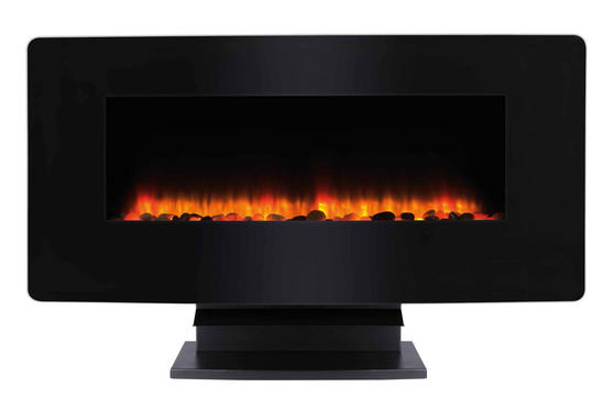Beldray Porto LED Electric Colour Changing Wall Fire with Floor Stand, 1500 W, Black Thumbnail 4