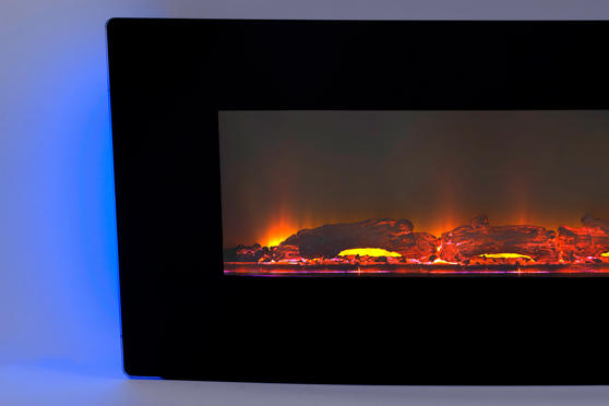 Beldray Porto LED Electric Colour Changing Wall Fire with Floor Stand, 1500 W, Black Thumbnail 5
