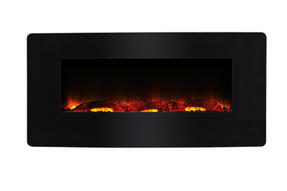 Beldray EH1162 Porto LED Electric Colour Changing Wall Fire with Floor Stand, 1500 W, Black Thumbnail 2
