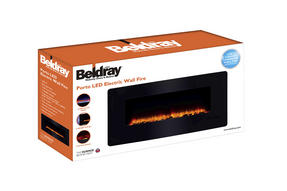 Beldray EH1162 Porto LED Electric Colour Changing Wall Fire with Floor Stand, 1500 W, Black Thumbnail 7