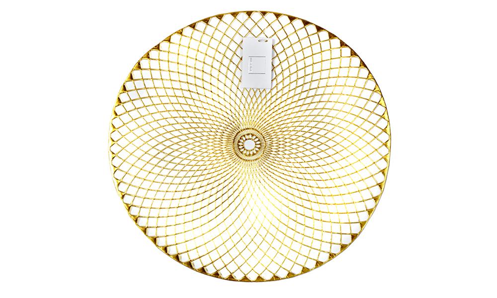 Inspire An286390 Lattice Placemat Pvc Gold