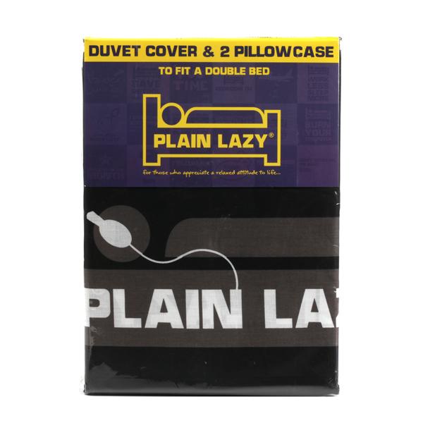 Plain Lazy 'since birth' double duvet