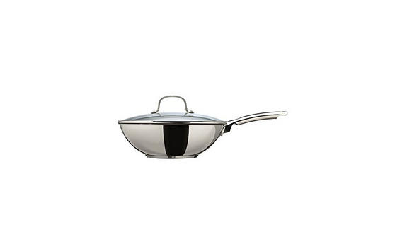 Thomas Cook & Pour 28 cm Non-stick Stir-fry Pan with Glass Lid