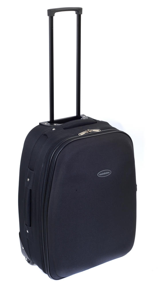 "Constellation Plain Eva Suitcase, 22"", Black"
