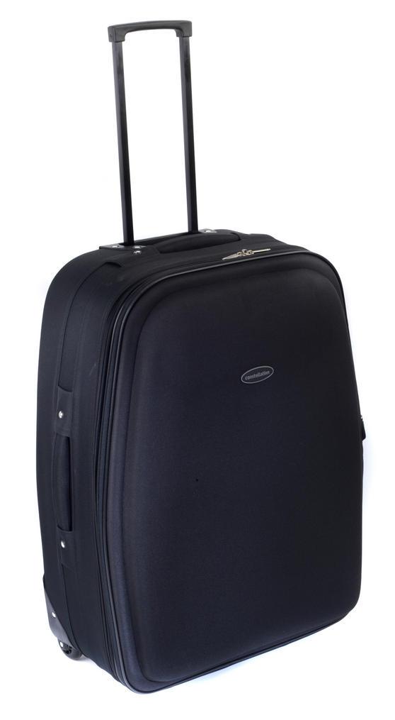 """Constellation Plain Eva Suitcase, 26"""", Black"""