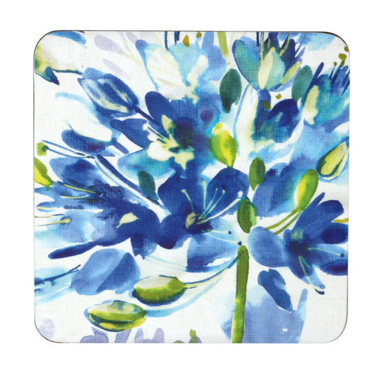 Inspire Set Of 4 Blue Medley Coasters 10.5 cm x 10.5 cm
