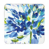 Inspire Set Of 4 Blue Medley Coasters 10.5 cm x 10.5 cm Thumbnail 1