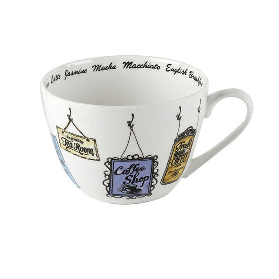 Portobello Wilmslow Vintage Signs Bone China Mug