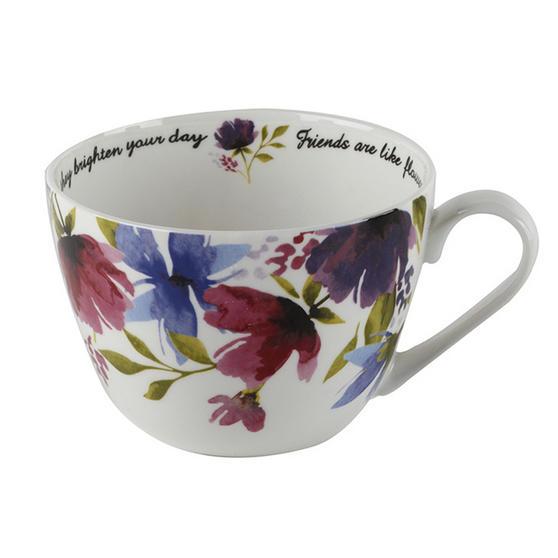 Portobello Wilmslow Friends And Flowers Bone China Mug