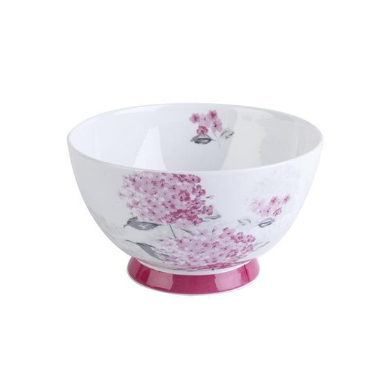Portobello Footed Ami Pink Bone China Bowl