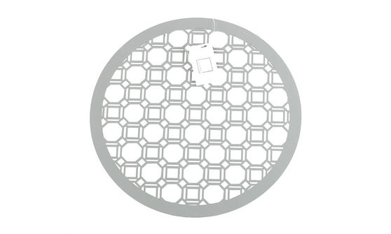 Inspire Luxury Lacquered Octagon Round Placemat, 35cm, MDF, Grey