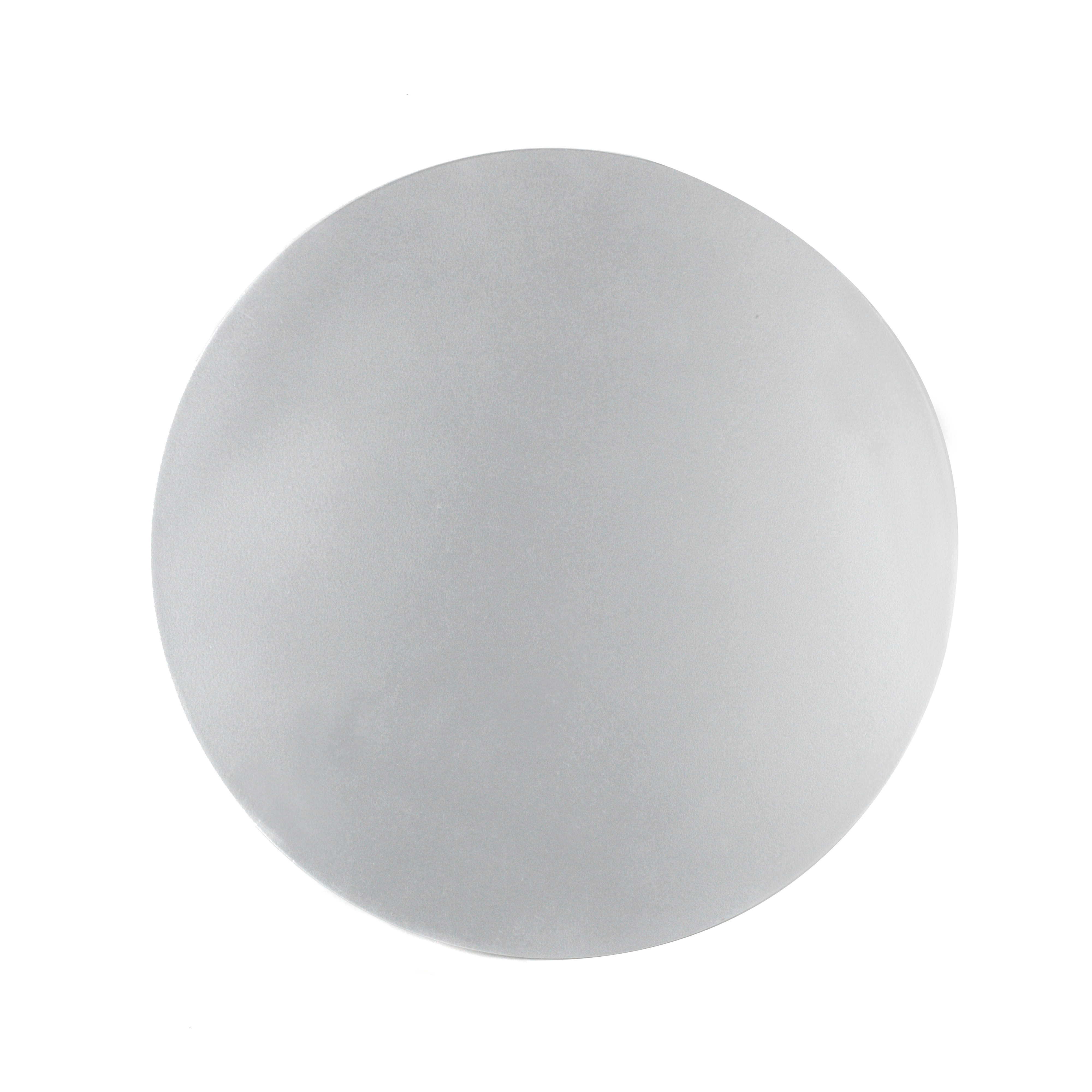 Inspire Luxury Shimmer Metallic Round Placemat 29cm Mdf Silver