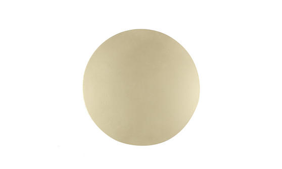 Inspire Luxury Shimmer Metallic Round Placemat, 29cm, MDF, Gold