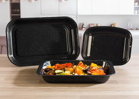 Russell Hobbs  3-Piece Vitreous Enamel Roaster and Chop Tray Set CW20701 Thumbnail 2