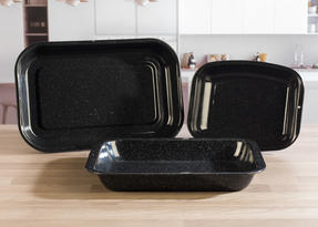 Russell Hobbs  3-Piece Vitreous Enamel Roaster and Chop Tray Set CW20701 Thumbnail 7