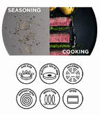 Russell Hobbs BW04199 Infinity Carbon Steel Frying Pan, 24 cm, Grey Thumbnail 3
