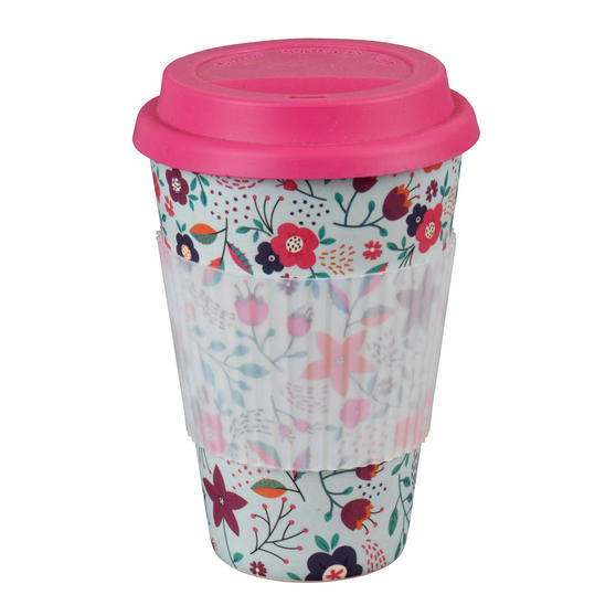 Cambridge CM04436 Poppy Flowers Reusable Sippy Mug