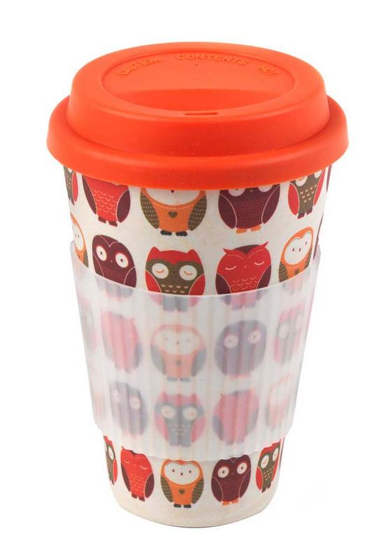 Cambridge CM04530 Bamboo Owl Travel Mug