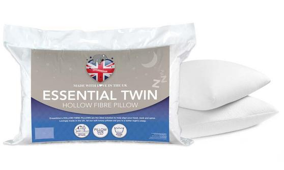 Dreamtime MF02513UP Simply Sleep Hollow Fibre Pillows, Polyester, Twin Pack, White