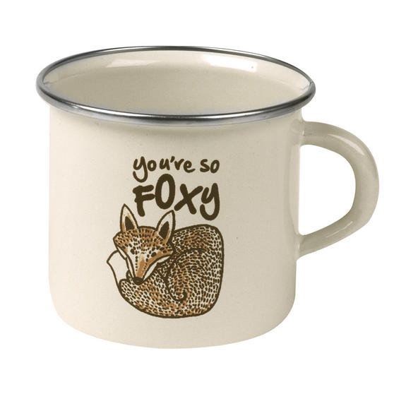 Cambridge 9cm Enamel You're So Foxy Mug