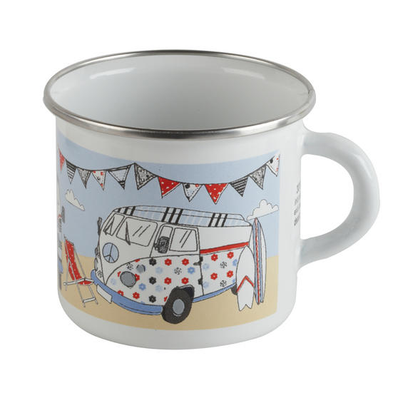 Cambridge 9cm Enamel VW Campervan Mug