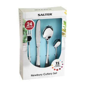 Salter BW03142 Elegance Newbury 24 Piece Cutlery Set, Stainless Steel, 15 Year Guarantee Thumbnail 6