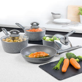 Salter BW04151G1AR Marble Collection Forged Aluminium Non Stick Pan Set, 4 Piece Thumbnail 9