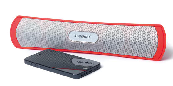 Intempo Red Mini Bursnell Bluetooth Speaker