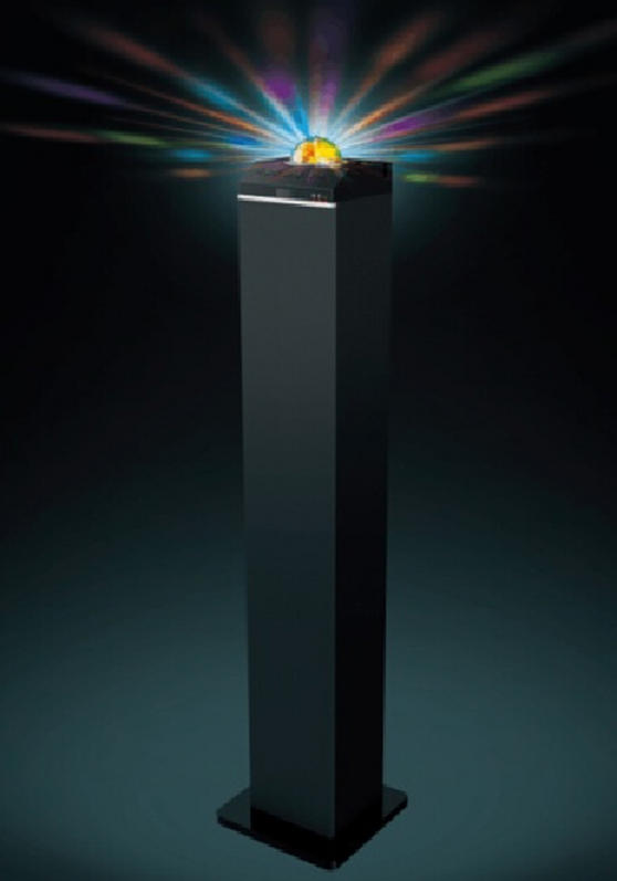 Intempo Bluetooth Tower Speaker With Disco Light