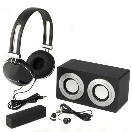 Intempo 4-In-1 Stereo Black Gift Set EE1108