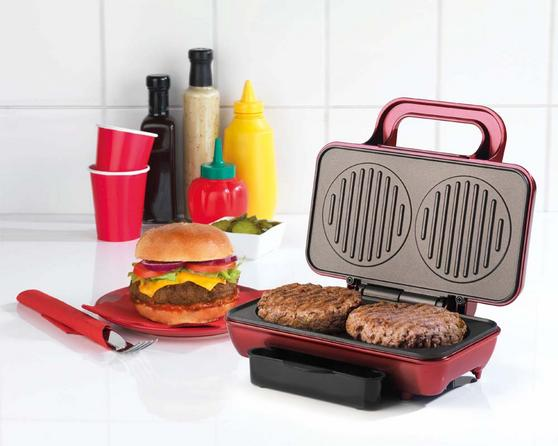 American Originals EK2005AR Twin Burger Maker, 800 W
