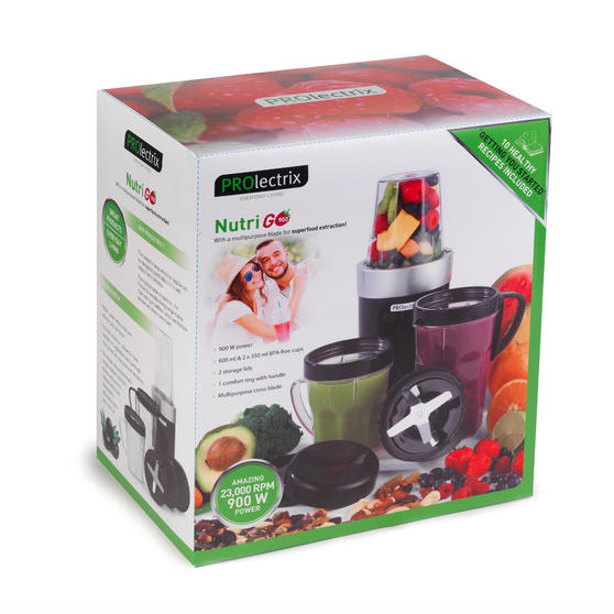 Black And Silver Kitchen Appliances: Prolectrix Black And Silver 900 Watt Nutri Go Blender