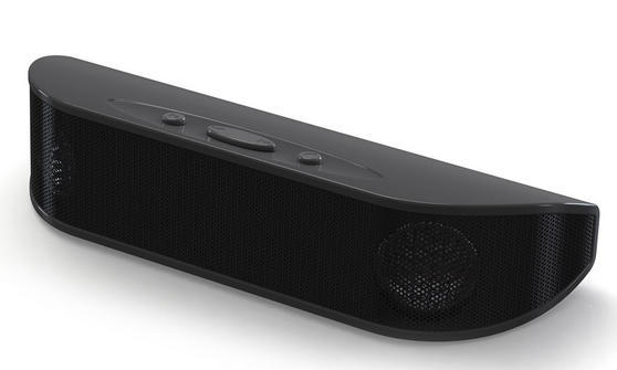 NuSound Portable Bluetooth Speaker With Passive Bass Boost NU-012BK