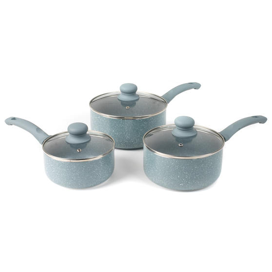 Russell Hobbs BW03721DB Stone Collection Daybreak 3 Piece Kitchen Pan Set