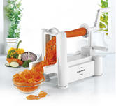 Salter Multi-Purpose 3 Blade Fruit and Vegetable Spiralizer, White Thumbnail 1