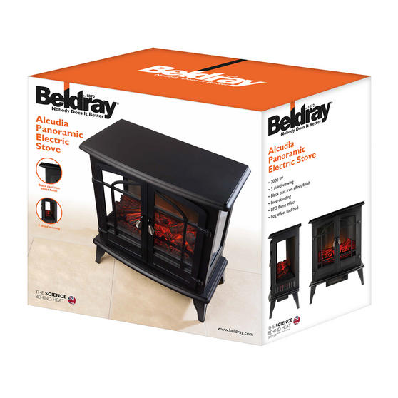 "Beldray Alcudia 25"" Panoramic Electric Stove Thumbnail 3"