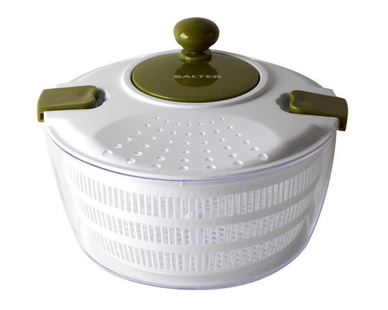 Salter Large Salad Spinner, Green/White