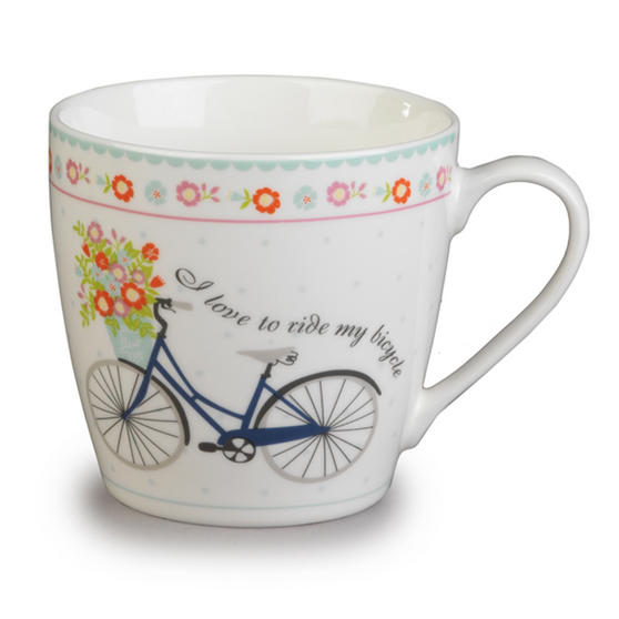 Cambridge Harrogate Floral Bike Fine China Mug CM04693