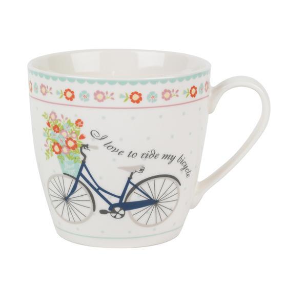 Cambridge Harrogate Floral Bike Fine China Mug CM04693