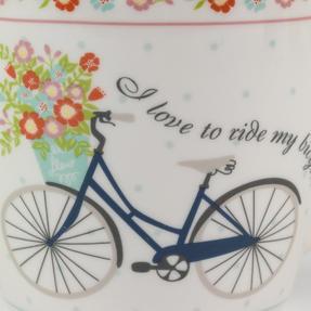 Cambridge Harrogate Floral Bike Fine China Mug CM04693 Thumbnail 2