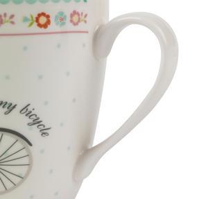 Cambridge Harrogate Floral Bike Fine China Mug CM04693 Thumbnail 3