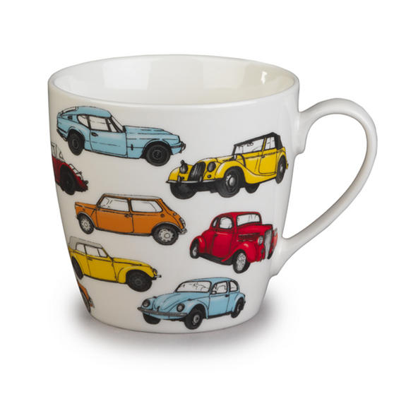 Cambridge Harrogate Retro Cars Fine China Mug CM04701