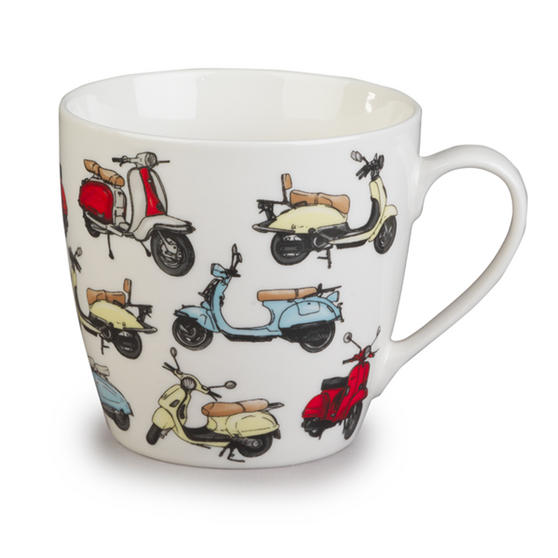 Cambridge Harrogate Retro Scooters Fine China Mug CM04702