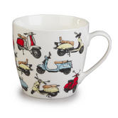 Cambridge Harrogate Retro Scooters Fine China Mug CM04702 Thumbnail 1