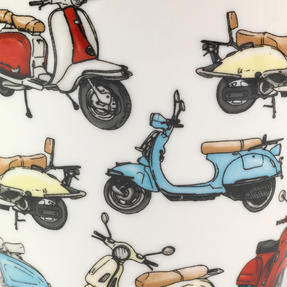 Cambridge Harrogate Retro Scooters Fine China Mug CM04702 Thumbnail 2