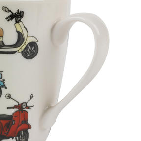 Cambridge Harrogate Retro Scooters Fine China Mug CM04702 Thumbnail 3